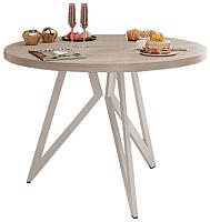 Обеденный стол Domus Оригами-1 / 14-103-101-06 (вяз свелый/белый) -