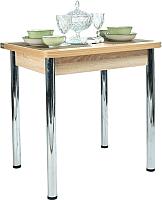 Обеденный стол Рамзес Ломберный ЛДСП 60x80 (дуб сонома светлый/хром) -