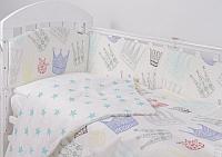 Комплект постельный в кроватку Топотушки Фантазия 3 предмета / 301/4 (короны/бирюзовый) -