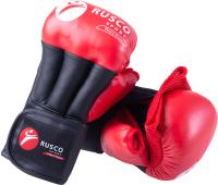 Перчатки для рукопашного боя RuscoSport Pro (р-р 6, красный) -