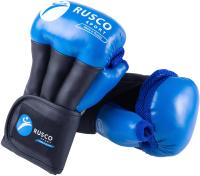 Перчатки для рукопашного боя RuscoSport Pro (р-р 4, синий) -
