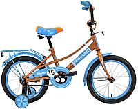 Детский велосипед Forward Azure 2020 / RBKW0LNG1020 (16, бежевый/голубой) -