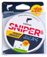Леска плетеная Salmo Sniper BP ALL R Braid x4 Grass Green 120/017 / 4931-017 -