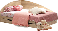 Односпальная кровать Мебель-КМК 800 0302 (дуб молочный) -