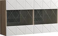 Шкаф навесной Мебель-КМК 2Д Монако 0673.28 (дуб санома/дуб полярный) -