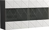 Шкаф навесной Мебель-КМК 2Д Монако 0673.28 (графит/дуб полярный) -