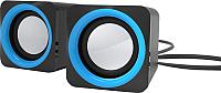 Мультимедиа акустика Ritmix SP-2025 (черный/синий) -