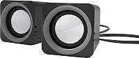 Мультимедиа акустика Ritmix SP-2025 (черный/серый) -