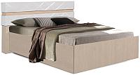 Двуспальная кровать Мебель-КМК 1600 Монако 1 0673.3 (дуб сонома/дуб полярный) -