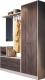 Секция в прихожую Мебель-КМК Марк 1 0747 (ясень шимо светлый/ясень шимо темный) -