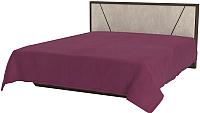 Двуспальная кровать Мебель-КМК Нирвана 1 0745 (дуб кентербери/камень серый) -