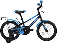 Детский велосипед Forward Meteor 16 2020 / RBKW0LNG1038 (черный/синий) -