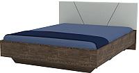 Двуспальная кровать Мебель-КМК 1600 Нирвана 2 0746 (дуб кентербери/Garden 17) -
