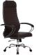 Кресло офисное Metta Комплект 6 / SU-1-BK (коричневый) -