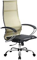 Кресло офисное Metta Комплект 7 / SK-1-BK (золотой ротанг) -