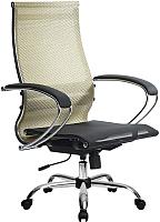 Кресло офисное Metta Комплект 9 / SK-2-BK (золотой ротанг) -