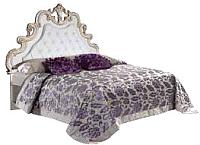Двуспальная кровать Мебель-КМК Розалия 0456.6-01 (белый/патино золото) -
