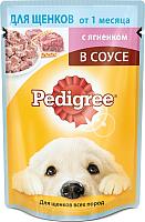 Корм для собак Pedigree Для щенков от 1 месяца с ягненком в соусе (85г) -