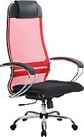 Кресло офисное Metta Комплект 3 / SU-1-BK (красный) -
