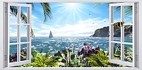 Фотообои листовые Citydecor Вид из окна 2 (300x150) -