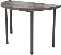 Обеденный стол Millwood Далис 2 60x120/D120x75 (сосна пасадена/металл черный) -