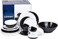 Набор столовой посуды Luminarc Harena Black/White P9626 (38пр) -