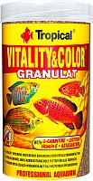 Корм для рыб TROPICAL Vitality & Color Granulat / 60444 (250мл) -