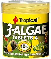 Корм для рыб TROPICAL 3-Algae Tablets A / 20732 (50мл) -