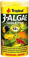 Корм для рыб TROPICAL 3-Algae Tablets A / 20734 (250мл) -