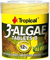 Корм для рыб TROPICAL 3-Algae Tablets B / 20742 (50мл) -