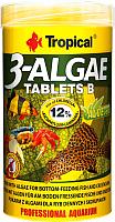 Корм для рыб TROPICAL 3-Algae Tablets B / 20744 (250мл) -