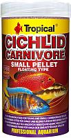 Корм для рыб TROPICAL Cichlid Carnivore Small Pellet / 60754 (250мл) -