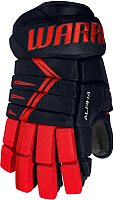 Перчатки хоккейные Warrior Alpha DX3 / DX3G9-NRD10 (синий/красный) -