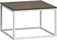 Журнальный столик Loftyhome Бервин 2 / BR020206 (серый с белым основанием) -
