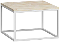 Журнальный столик Loftyhome Бервин 2 / BR020204 (натуральный с белым основанием) -