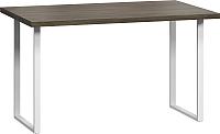 Обеденный стол Loftyhome Лондейл 1 / LD050106 (серый с белым основанием) -
