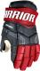 Перчатки хоккейные Warrior QRE Pro / QPG-BRD12 (черный/красный) -