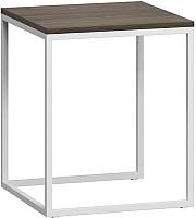 Журнальный столик Loftyhome Бервин 4 / BR020406 (серый с белым основанием) -