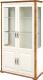 Шкаф с витриной Мебель-Неман Марсель МН-126-19 (крем/дуб кантри) -