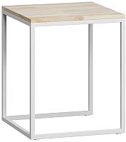 Журнальный столик Loftyhome Бервин 4 / BR020404 (натуральный с белым основанием) -