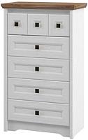 Комод Мебель-Неман Тиволи МН-035-02 (белый структурный/дуб стирлинг) -