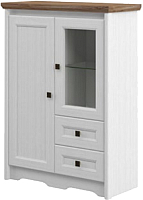 Тумба Мебель-Неман Тиволи МН-035-05 (белый структурный/дуб стирлинг) -