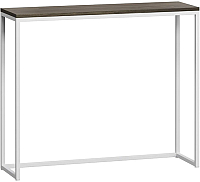 Консольный столик Loftyhome Бервин / BR040206 (серый с белым основанием) -