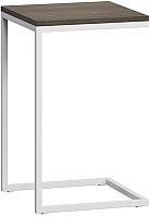 Приставной столик Loftyhome Бервин / BR020506 (серый с белым основанием) -