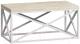 Журнальный столик Loftyhome Бервин 6 / BR020604 (натуральный с белым основанием) -