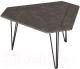 Журнальный столик Калифорния мебель ТЕТ 450 (серый бетон) -