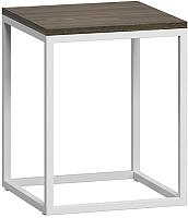 Журнальный столик Loftyhome Бервин 3 / BR020306 (серый с белым основанием) -