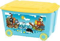 Ящик для хранения Бытпласт С аппликацией 431380902 (голубой) -