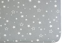 Простыня детская Martoo Comfy-3 / СM3-1-GR-WTST (белые звезды на сером) -