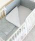 Одеяло детское Martoo Basik / BS-GR/WT-ST (белый/серый/звезды на белом) -